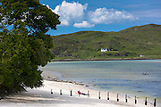 Beach scene at Arisaig on the West Coast of the Highlands of Scotland
