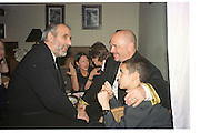 Alan Yentob and Anthony Minghella. Miramax post Bafta's party. Noble Rot. 9 April 2000. © Copyright Photograph by Dafydd Jones 66 Stockwell Park Rd. London SW9 0DA Tel 020 7733 0108 www.dafjones.com