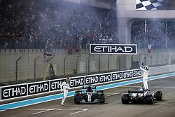 November 26, 2017 - Abu Dhabi, United Arab Emirates - Motorsports: FIA Formula One World Championship 2017, Grand Prix of Abu Dhabi, .#44 Lewis Hamilton (GBR, Mercedes AMG Petronas F1 Team), #77 Valtteri Bottas (FIN, Mercedes AMG Petronas F1 Team) (Credit Image: © Hoch Zwei via ZUMA Wire)