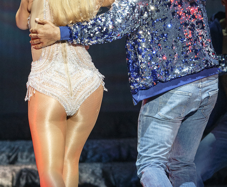 Mariah Carey opens The Sweet Sweet Fantasy Tour at The Hydro, Glasgow. Her fishnet tights appear to be torn. Picture Robert Perry 15th March 2016<br /> <br /> Must credit photo to Robert Perry<br /> FEE PAYABLE FOR REPRO USE<br /> FEE PAYABLE FOR ALL INTERNET USE<br /> www.robertperry.co.uk<br /> NB -This image is not to be distributed without the prior consent of the copyright holder.<br /> in using this image you agree to abide by terms and conditions as stated in this caption.<br /> All monies payable to Robert Perry<br /> <br /> (PLEASE DO NOT REMOVE THIS CAPTION)<br /> This image is intended for Editorial use (e.g. news). Any commercial or promotional use requires additional clearance. <br /> Copyright 2014 All rights protected.<br /> first use only<br /> contact details<br /> Robert Perry     <br /> 07702 631 477<br /> robertperryphotos@gmail.com<br /> no internet usage without prior consent.         <br /> Robert Perry reserves the right to pursue unauthorised use of this image . If you violate my intellectual property you may be liable for  damages, loss of income, and profits you derive from the use of this image.