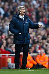 Man City Manager Manuel Pellegrini (CHI) looks on - Photo mandatory by-line: Rogan Thomson/JMP - 07966 386802 - 29/03/14 - SPORT - FOOTBALL - Emirates Stadium, London - Arsenal v Manchester City - Barclays Premier League.