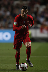 March 22, 2019 - Lisbon, Portugal - Cristiano Ronaldo of Portugal  in action during the Euro 2020 qualifying match football match between Portugal vs Ukraine, in Lisbon, on March 22, 2019. (Credit Image: © Carlos Palma/NurPhoto via ZUMA Press)