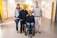 "Javier Gutierrez, paralympic Swimmer Teresa Perales and Javier Fesser during the presentation of the new Javier Fesser short film ""Servicio Tecnico"",in Madrid, March 15, 2016<br /> (ALTERPHOTOS/BorjaB.Hojas)"