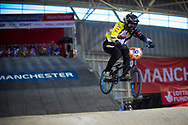 #90 (SPRENGERS Dana) NED at the 2014 UCI BMX Supercross World Cup in Manchester.