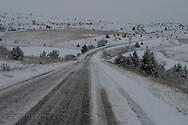 snow . in the causses. cevennes  Causse sauveterre  France   / les causses sous la neige. cevennes  Causse sauveterre  France