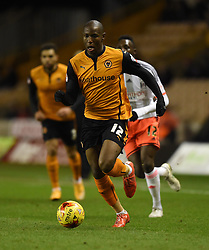 Wolverhampton Wanderers Benik Afobe in action during the Sky Bet Championship match between Wolverhampton Wanderers and Fulham at Molineux Stadium on 24 February 2015 in Wolverhampton, England - Photo mandatory by-line: Paul Knight/JMP - Mobile: 07966 386802 - 24/02/2015 - SPORT - Football - Wolverhampton - Molineux Stadium - Wolverhampton Wanderers v Fulham - Sky Bet Championship