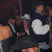 EXCLUSIVE: Russell Simmons, Marcus Schenkenberg and Joakim Noah attend the Gangs of New York Halloween Party held at the Liberty Theater.<br />