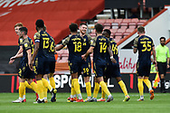Goal 0-1 - Will Forrester (39) of Stoke City celebrates scoring the opening goal on his debut during the EFL Sky Bet Championship match between Bournemouth and Stoke City at the Vitality Stadium, Bournemouth, England on 8 May 2021.