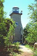 Lighthouse overlooking Lake Michigan.  Door County Wisconsin USA