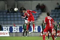 Fotball Tippeligaen.<br /> Viking v Brann.<br /> 16.06.2011.<br /> Viking Stadion, Stavanger.<br /> Foto. Simon Rogers, Digital Sport.<br /> <br /> Viking. King Osei Gyan<br /> Brann. Nicolas Mezquida