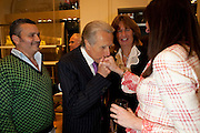 GIANCARLO ARAGONA ITALIAN AMBASSADOR TO LONDON;  DONNA FRANCESCA CENTURIONE SCOTTO , - BOOK PARTY FOR A BOOK BY DONNA FRANCESCA CENTURIONE SCOTTO AT Salvatore Ferragamo, 24 Old Bond Street, London W1. 14 May 2009 *** Local Caption *** -DO NOT ARCHIVE-© Copyright Photograph by Dafydd Jones. 248 Clapham Rd. London SW9 0PZ. Tel 0207 820 0771. www.dafjones.com.<br /> GIANCARLO ARAGONA ITALIAN AMBASSADOR TO LONDON;  DONNA FRANCESCA CENTURIONE SCOTTO , - BOOK PARTY FOR A BOOK BY DONNA FRANCESCA CENTURIONE SCOTTO AT Salvatore Ferragamo, 24 Old Bond Street, London W1. 14 May 2009