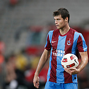 Trabzonspor's Ondrej CELUSTKA during their UEFA Champions League third qualifying round, second leg, soccer match Trabzonspor between Benfica at the Ataturk Olimpiyat Stadium at İstanbul Turkey on Wednesday, 03 August 2011. Photo by TURKPIX