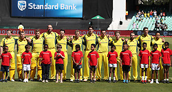 Australia during the 3rd ODI match between South Africa and Australia singing the national anthem held at Kingsmead Stadium in Durban, Kwazulu Natal, South Africa on the 5th October  2016<br /> <br /> Photo by: Steve Haag/ RealTime Images