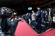Parterre, Telecamera<br /> A|X Armani Exchange Olimpia Milano - Segafredo Virtus Bologna<br /> Discovery+ Supercoppa 2021 - Final Eight - Finale<br /> LBA Legabasket Serie A UnipolSAI 2021/2022<br /> Bologna, 21/09/2021<br /> Foto L.Canu / Ciamillo-Castoria