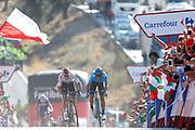 Arrival sprint, Alejandro Valverde (ESP - Movistar) , Michal Kwiatkowski (POL - Team Sky) during the UCI World Tour, Tour of Spain (Vuelta) 2018, Stage 2, Marbella - Caminito del Rey 163.5 km in Spain, on August 26th, 2018 - Photo Luis angel Gomez / BettiniPhoto / ProSportsImages / DPPI