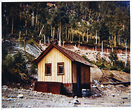 View of Dolores depot outhouse after relocation to a nearby location.<br /> RGS  Dolores, CO