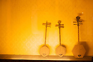 Ancient Chinese instruments on display in Tainan, Taiwan.