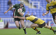 Reading Berkshire, 29/09/02<br /> London Irish vs Wasps,<br /> Exiles Declan Danaher attacking, during the, ZURICH PREMIERSHIP RUGBY match at the, Madejski Stadium,  [Mandatory Credit: Peter Spurrier/Intersport Images]
