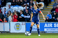 Rachel Corsie (#4) of Scotland on the ball during the 2019 FIFA Women's World Cup UEFA Qualifier match between Scotland Women and Switzerland at the Simple Digital Arena, St Mirren, Scotland on 30 August 2018.