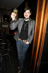 JASMINE GUINNESS at a dinner hosted by Ruinart in honour of artist Natasha Law held at Soho House, 21 Old Compton Street, London on 16th January 2008.<br /> <br />  (EMBARGOED FOR PUBLICATION IN UK MAGAZINES UNTIL 1 MONTH AFTER CREATE DATE AND TIME) www.donfeatures.com  +44 (0) 7092 235465
