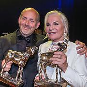 NLD/Utrecht/20181005 - L'OR Gouden Kalveren Gala 2018, Monique van de Ven en Alain de Levita