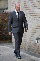 © Licensed to London News Pictures. 18/11/2016. SALISBURY, UK. Army Sergeant Emile Cilliers (36) arrives at Salisbury Crown Court where he is charged with attempted murder of his wife Victoria Cilliers (40). Victoria Cilliers parachute failed to open on 5 April 2015 in a 4,000 ft jump at Netheravon Airfield. Emile Cilliers is accused of two counts of attempted murder and a charge of criminal damage reckless to the endangerment of life. Photo credit : Laura Dale/LNP