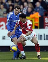 Photo: Olly Greenwood.<br />Charlton v Chelsea. The Barclays Premiership. 03/02/2007. Chelsea's Andriy Schevchenko and Charlton's Talal El Karkouri