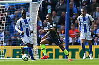 BRIGHTON, ENGLAND - MAY 12:    Raheem Sterling (7) of Manchester City on the attack during the Premier League match between Brighton & Hove Albion and Manchester City at American Express Community Stadium on May 12, 2019 in Brighton, United Kingdom. (MB Media)