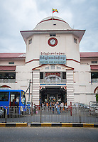 YANGON, MYANMAR - CIRCA DECEMBER 2013: View of the BoGyoke Aung San Market in Yangon.