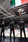 Inno d'Italia, Arbitro, Referee,<br /> Segafredo Virtus Bologna - A|X Armani Exchange Olimpia Milano<br /> Finale Playoff Scudetto Gara3<br /> LBA Legabasket Serie A UnipolSai 2020-2021<br /> Bologna, 09/06/2021<br /> Foto L.Canu / Ciamillo-Castoria