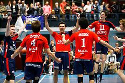 20150423 NED: Eredivisie ARBO Rotterdam Fusion - Zaanstad, Rotterdam <br />Vreugde bij ARBO Rotterdam Fusion, Robin van der AA, Max Staples, Julien Hagens<br />©2015-FotoHoogendoorn.nl / Pim Waslander