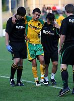 Photo: Maarten Straetemans.<br /> FC Zwolle v Norwich City. Pre Season Friendly. 25/07/2007.<br /> Jimmy Smith (Norwich City) got injured