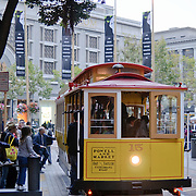 San Francisco's famous street cable cars