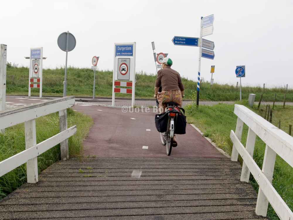 woman bicycling Holland