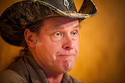 04 MAY 2012 - PHOENIX, AZ:  Ted Nugent, rock musician, conservative activist, 2nd amendment advocate and Mitt Romney supporter sits down for an interview at the Arizona Republic in Phoenix, AZ.    PHOTO BY JACK KURTZ
