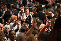 © Licensed to London News Pictures . 27/09/2015 . Brighton , UK . Delegates voting at the 2015 Labour Party Conference . Photo credit : Joel Goodman/LNP