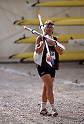 Barcelona, SPAIN. USA W1X, Anne MARDEN,  1992 Olympic Rowing Regatta Lake Banyoles, Catalonia [Mandatory Credit Peter Spurrier/ Intersport Images]