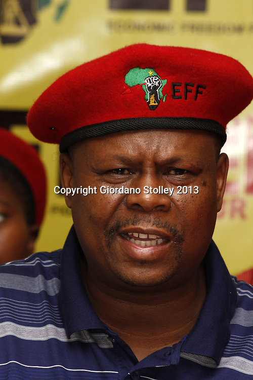 DURBAN - 14 August 2013 - Mpho Ramakatsa, the national coordinator for the newly formed Economic Freedom Fighters party speaks at the party's first press briefing in KwaZulu-Natal. EFF was founded by expelled ANC Youth League president Julius Malema. Its key policies include expropriation of land without compensation and the nationalisation of mines and banks among others.Picture: Giordano Stolley