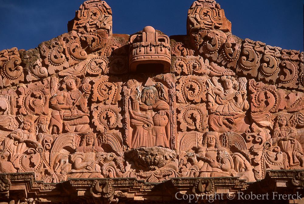 MEXICO, ZACATECAS Cathedral façade, architectural masterpiece