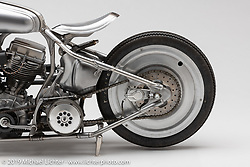 Chankla Veloz by Cristian Sosa, Sosa Metalworks, is a completely custom made 1950 Panhead that was inspired by the architecture of Paris where I would ride trains everyday and see stairway entrances and walls surrounded by art nouveau / Art Deco styling. Photographed by Michael Lichter in Sturgis, SD. August 1, 2019. ©2019 Michael Lichter