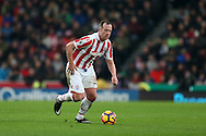 Charlie Adam of Stoke city in action. Premier league match, Stoke City v Manchester Utd at the Bet365 Stadium in Stoke on Trent, Staffs on Saturday 21st January 2017.<br /> pic by Andrew Orchard, Andrew Orchard sports photography.