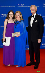 Washington Post publisher Fred Ryan (R) arrives for the White House Correspondents' Association (WHCA) dinner in Washington, D.C., on Saturday, April 29, 2017 (Photo by Riccardo Savi)  *** Please Use Credit from Credit Field ***