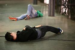 04.04.2016, Fanzone, Bordeaux, FRA, UEFA Euro, Fanzonen Sicherheitsübung, im Bild Sicherheitsübung von Spezial Einsatzkräften nach einem angenommen Selbstmord Anschlag auf die Fanzone // a terrorist attack mock exercise around Bordeaux' s Euro 2016 fan zone during a training as part of the security measures set for the upcoming European football championships Fanzone in Bordeaux, France on 2016/04/04. EXPA Pictures © 2016, PhotoCredit: EXPA/ Pressesports/ ROMAIN<br /> <br /> *****ATTENTION - for AUT, SLO, CRO, SRB, BIH, MAZ, POL only*****