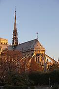 The Notre Dame de Paris cathedral in Paris, France