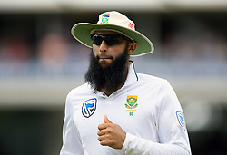 South Africa's Hashim Amla during day four of the First Investec Test match at Lord's, London. PRESS ASSOCIATION Photo. Picture date: Sunday July 9, 2017. See PA story CRICKET England. Photo credit should read: Nigel French/PA Wire. RESTRICTIONS: Editorial use only. No commercial use without prior written consent of the ECB. Still image use only. No moving images to emulate broadcast. No removing or obscuring of sponsor logos.
