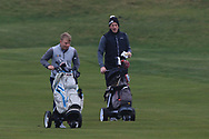 Cathal Butler (Kinsale) and Richard Knightly (Royal Dublin) on the 3rd during Round 3 of The West of Ireland Open Championship in Co. Sligo Golf Club, Rosses Point, Sligo on Saturday 6th April 2019.<br /> Picture:  Thos Caffrey / www.golffile.ie