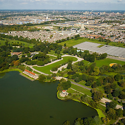 Aerial view of FDR Park in south philadelphia