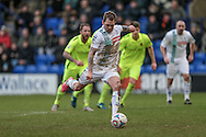 James Norwood (Tranmere Rovers) scores a penalty to make it 1-0 during the Vanarama National League match between Tranmere Rovers and Southport at Prenton Park, Birkenhead, England on 6 February 2016. Photo by Mark P Doherty.
