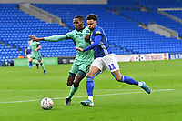Football - 2019 / 2020 Emirates FA Cup - Third Round: Cardiff City vs. Carlisle United<br /> <br /> Josh Murphy of Cardiff City on the attack Aaron Hayden of Carlisle defends , at Cardiff City Stadium.<br /> <br /> COLORSPORT/WINSTON BYNORTH