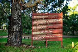 AUSTRALIA VICTORIA WAGGA WAGGA 12FEB08 - Plaque of the Wagga Wagga social club, with Wagga Wagga being the largest inland Austalian town...jre/Photo by Jiri Rezac..© Jiri Rezac 2008..Contact: +44 (0) 7050 110 417.Mobile:  +44 (0) 7801 337 683.Office:  +44 (0) 20 8968 9635..Email:   jiri@jirirezac.com.Web:    www.jirirezac.com..© All images Jiri Rezac 2007 - All rights reserved.